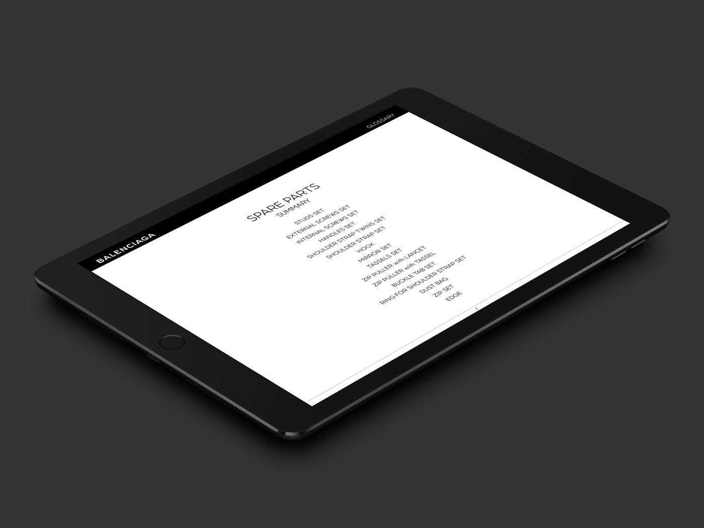 Balenciaga Glossary, service après vente ebook