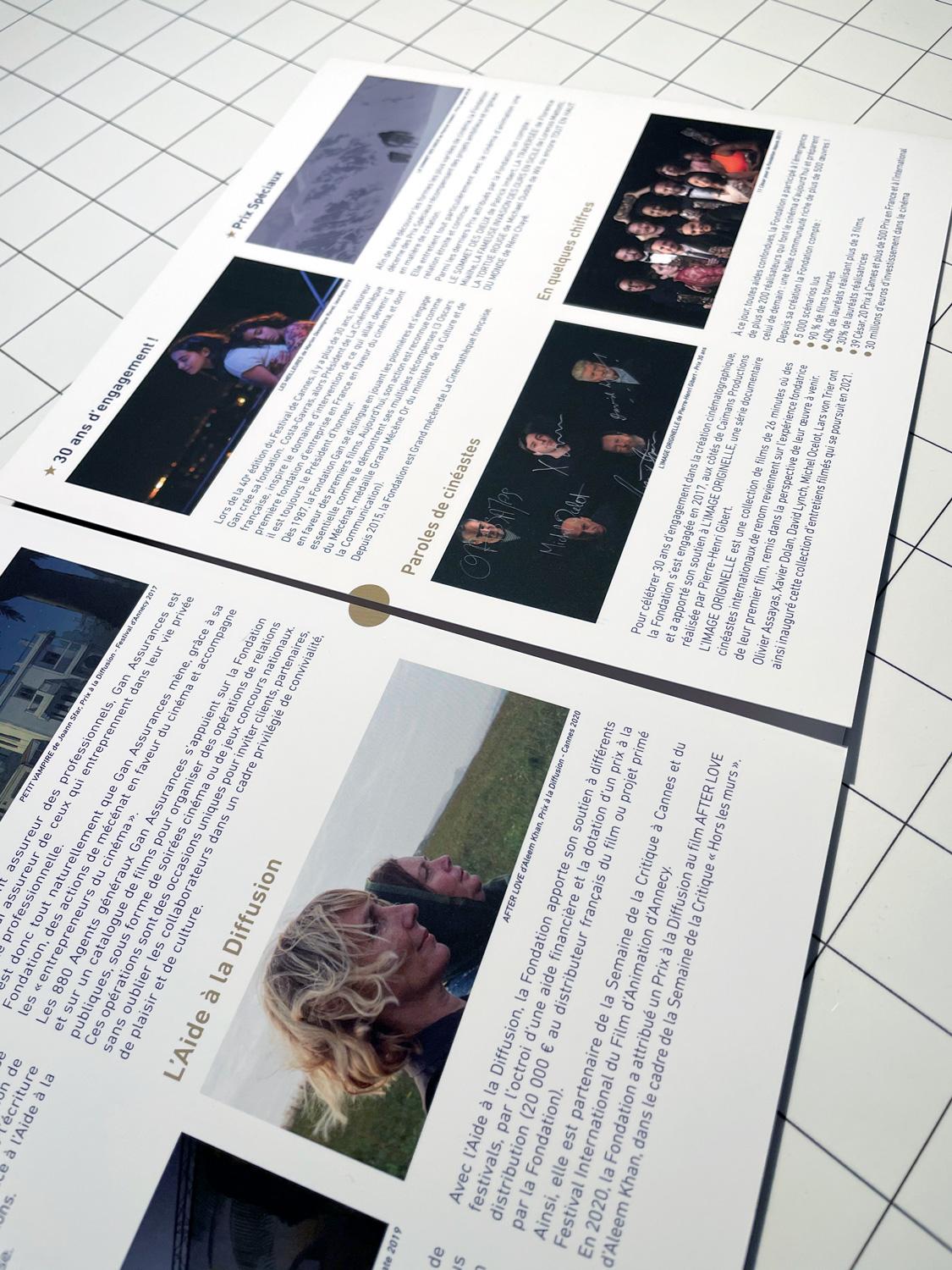 Fondation Gan pour le Cinéma Plaquette Lauréats