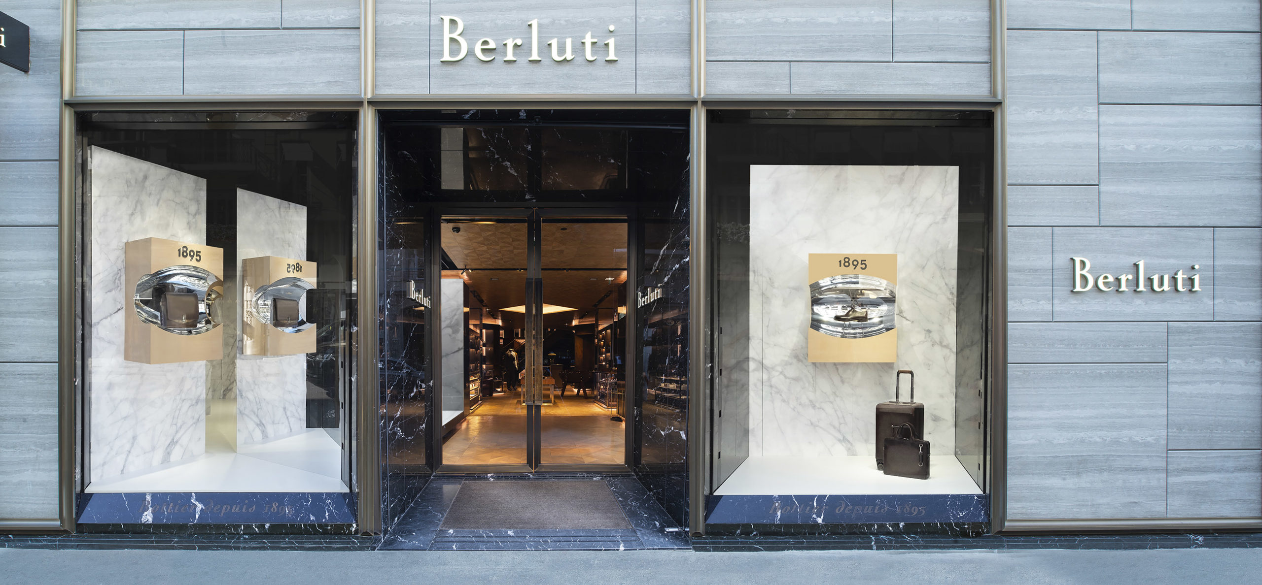Berluti FW19 collection shooting retail